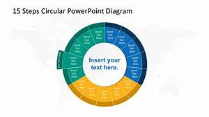 15 Steps Circular Cycle 12 Segment Ppt
