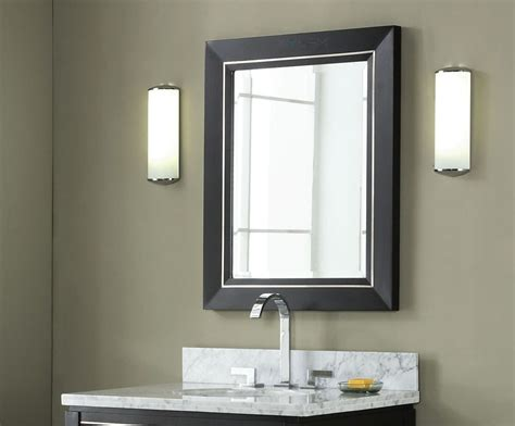 Bathroom Mirrors : Manhattan Inch Black Contemporary Bathroom Vanity