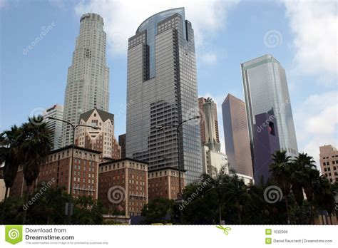 Marbro L Company Los Angeles by Downtown City Of Los Angeles Buildings Royalty Free Stock