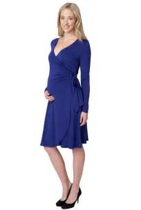 ripe maternity gia long sleeve wrap dress designer maternity