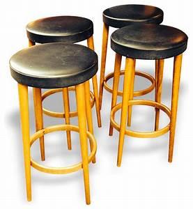 Tabouret De Bar Retro : 4 tabourets de bar ann es 50 retro chaise et tabouret de bar ~ Teatrodelosmanantiales.com Idées de Décoration