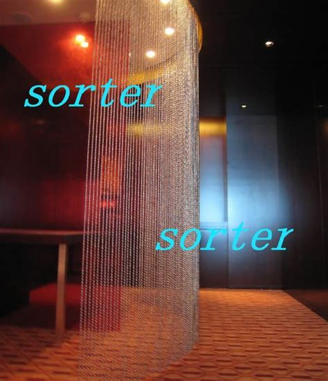 shimmer screen metal beads curtain  construction