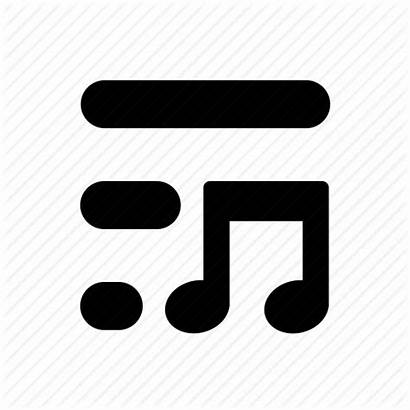 Playlist Icon Icons Noun Project Clipground Library