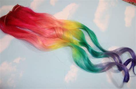 Rainbow Ombre Hair Clip Ins Rainbow Hair Hair