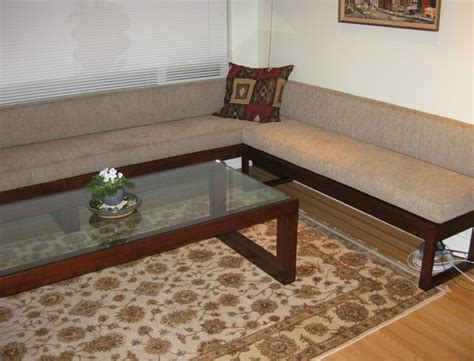 living room bench seating  coffee table contemporary