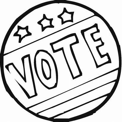 Coloring Election Pages Vote Voting Patriotic Polling