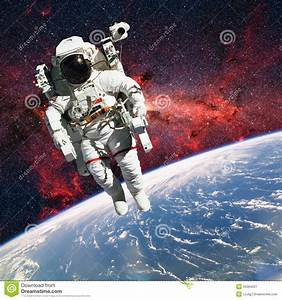 Astronaut In Outer Space With Planet Earth As Backdrop ...