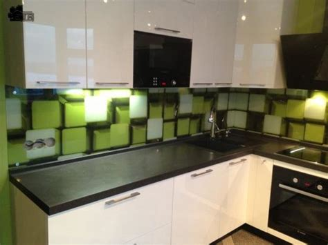 colorful glass backsplash ideas adding digital prints