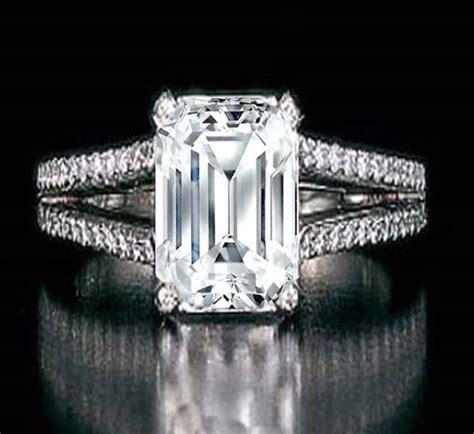 fashion club emerald cut diamond engagement rings