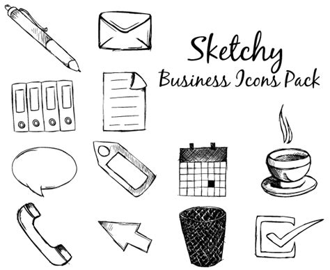 Sketchy Business Icons Free Vector Pack Business Plan Indonesia Pdf Bisnis Cafe Vistaprint Xmas Cards Exemple Vs Marketing In Nigeria Ups Wikipedia