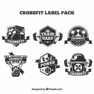 Crossfit badge collection Vector   Free Download
