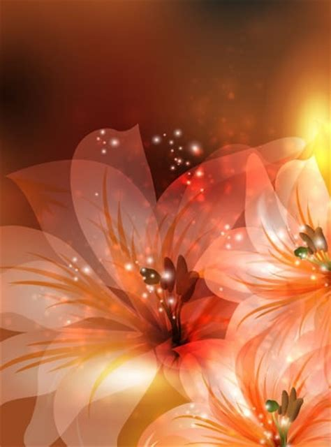 vector fantasy flowers background  vector