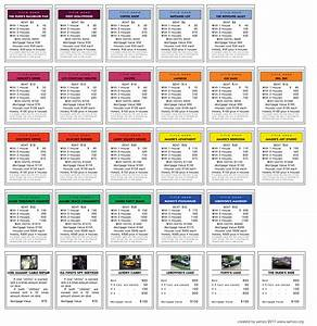the gallery for gt monopoly property cards original With monopoly property cards template