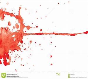 Tache rouge d'encre illustration stock Image du fond 11878690