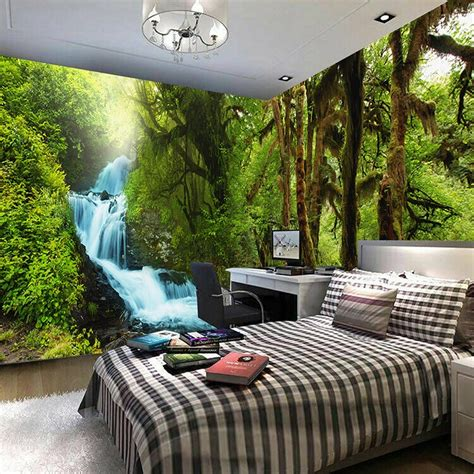 3d Hd Wallpapers Bedroom by Nature Scenery 3d Wall Mural Custom Hd Hd Tropical