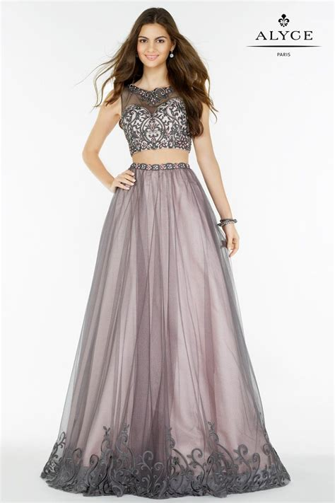 dress style   piece pink grey sequined lace crop