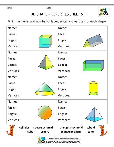 Free Printable Geometry Worksheets 3rd Grade