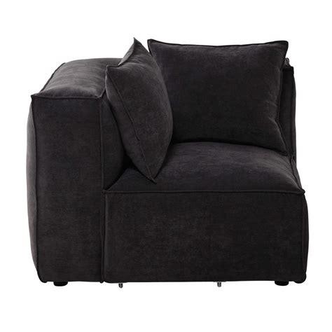 canapé modulable maison du monde angle de canapé modulable en tissu gris ardoise rubens