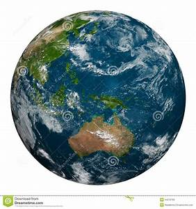Planet Earth With Clouds. Australia, Oceania And Part Of ...
