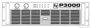 Electro-voice P3000 - Manual