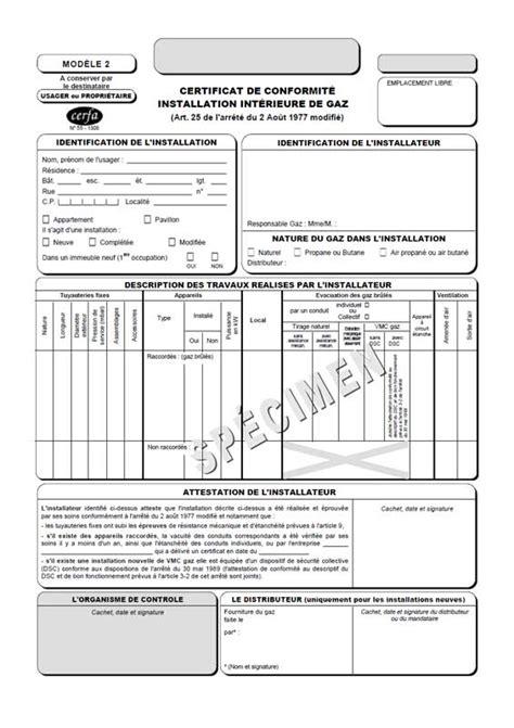 modele attestation reparation fuite eau tout savori sur le certificat de conformit 233 gaz elyotherm
