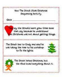 grinch stole christmas sequencing  jennifer
