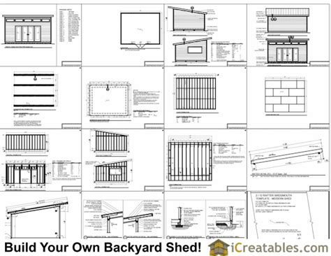 Shed Plans 16x20 Free by 16x20 Modern Studio Shed Shed Plans Way To Build
