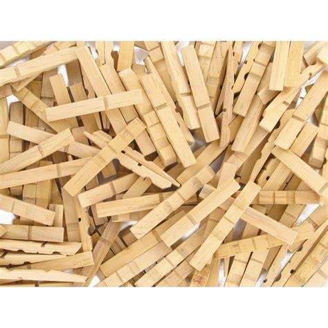 200 demi pinces 224 linge naturelles en bois