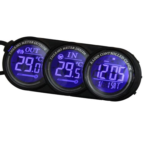 thermometre exterieur voiture thermometre digital pour voiture interieur exterieur alarme gel