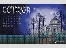 Fondos de escritorio con calendario del mes de Octubre del