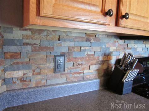 diy stone  pebble kitchen backsplashes
