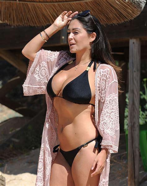 Casey Batchelor In Black Bikini On The Beach In Cyprus Indian Girls Villa Celebs Beauty
