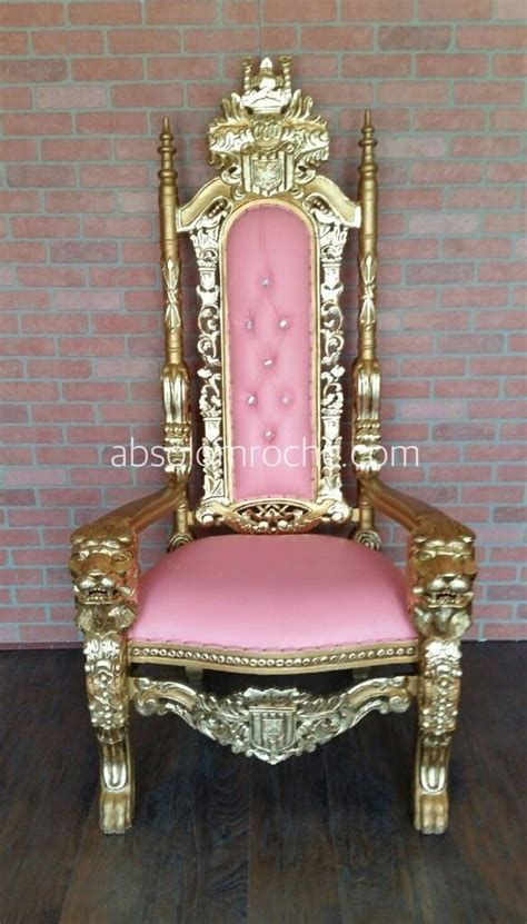 clearance lord raffles lion throne chair goldpink