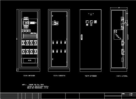 cabinet electrical dwg block  autocad designs cad