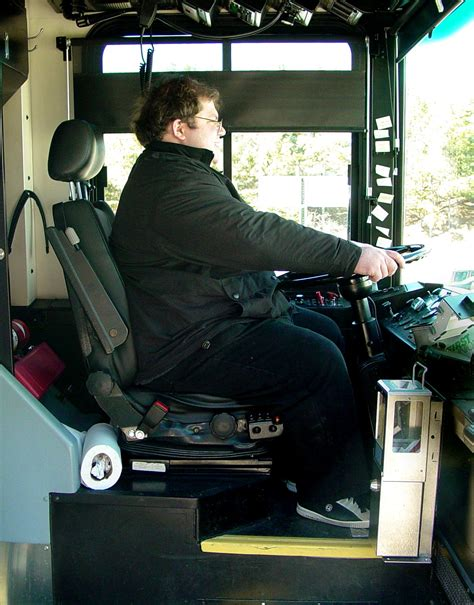 File:Person in driver's seat of Harrisonburg Transit bus ...