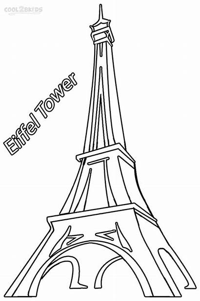 Eiffel Tower Coloring Pages Paris Drawing Printable