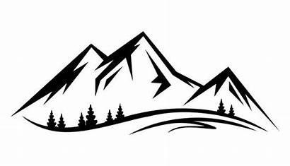 Mountain Clip Mountains Silhouette Landscape Clipart Range