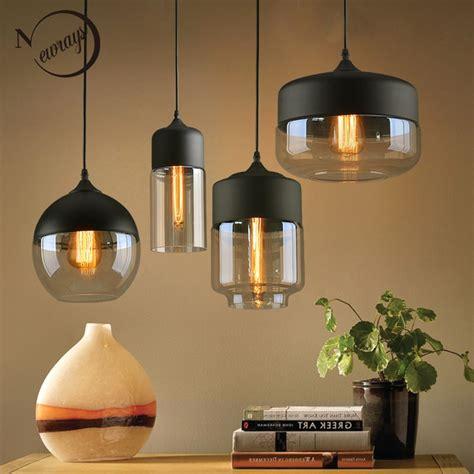 nordic modern loft hanging glass pendant lamp fixtures