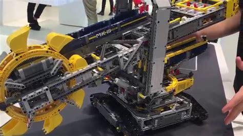 lego technic bucket wheel excavator set  youtube