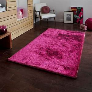 Tapis rose framboise a poils longs 120x170cm toodoo for Tapis framboise salon