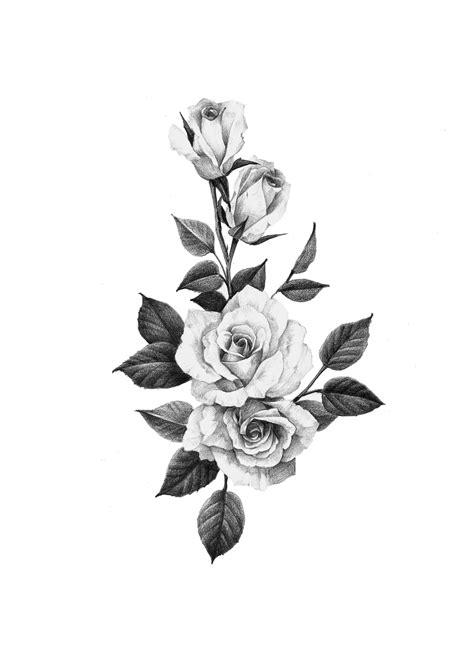 Pin by Maria on tatoo   Black ink tattoos, Rose tattoo stencil, Body art tattoos