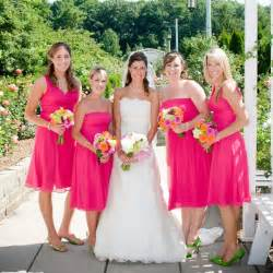 magenta mariage pink bridesmaid dresses ideal for a tropical wedding theme ipunya