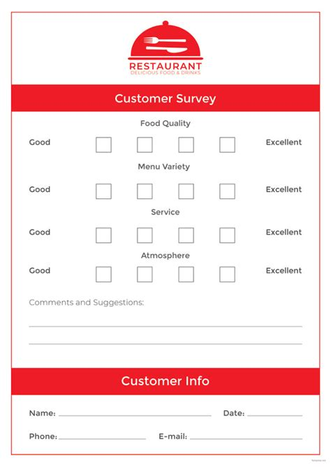 comment card template   printable sample