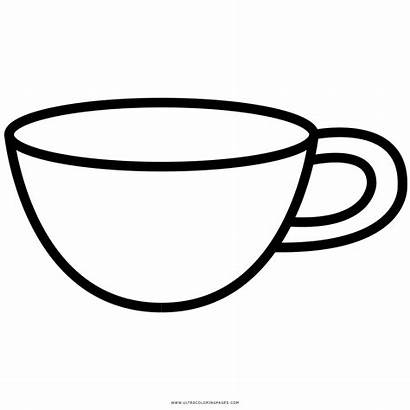Cup Colouring Clipart Coloring Pages Transparent Webstockreview