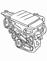 Engine Coloring Parts Pages Motor Drawing Clip Cliparts Sketch Train Sheets Getdrawings Steam Amazing Diesel sketch template