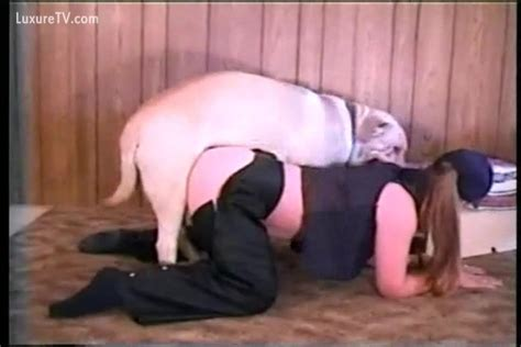 Chubby Wench Bows Over To Take Dogs Hard Dick
