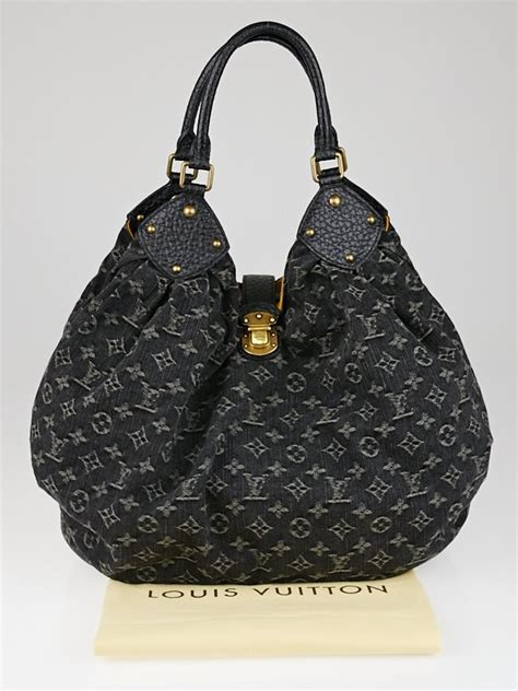 louis vuitton black denim monogram denim xl bag yoogis closet