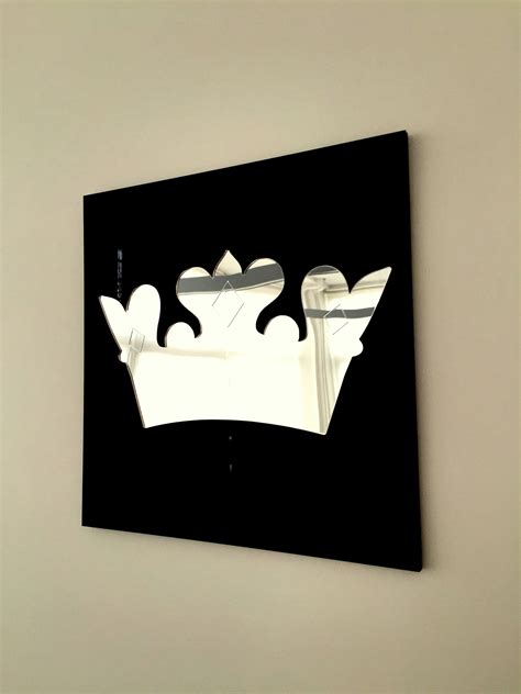 decorative mirror princess crown black frame