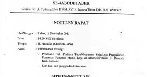 Contoh Notulen Seminar Kesehatan by Contoh Laporan Notulen Contoh 37