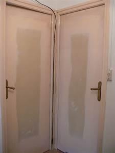 pose d une porte interieure installer une porte int With renover une porte interieure